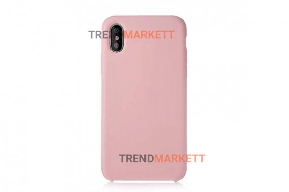 Силиконовый чехол (Silicon case) для iPhone X/XS Розовый