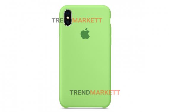 Силиконовый чехол (Silicon case) для iPhone XR Салатовый