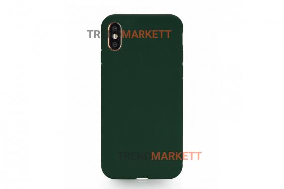 Силиконовый чехол (Silicon case) для iPhone X/XS Зеленый