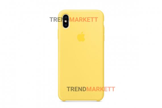 Силиконовый чехол (Silicon case) для iPhone XR Желтый